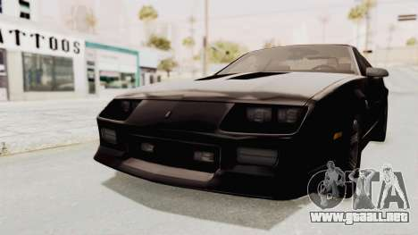 Chevrolet Camaro Z28 Iroc-Z Targa 1991 para GTA San Andreas