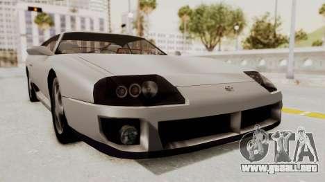 Jester Supra para GTA San Andreas vista posterior izquierda