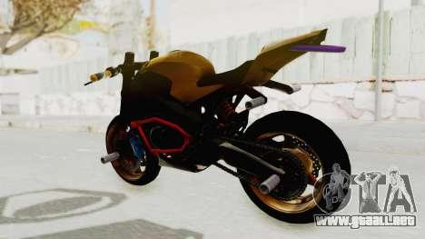 Honda CBR1000RR Naked Bike Stunt para GTA San Andreas vista posterior izquierda