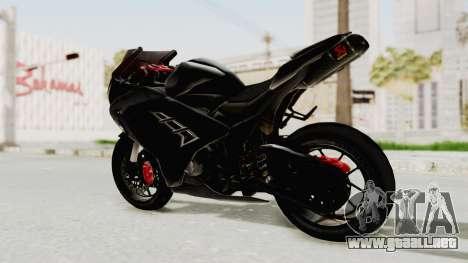 Kawasaki Ninja 300 FI Modification para GTA San Andreas vista posterior izquierda