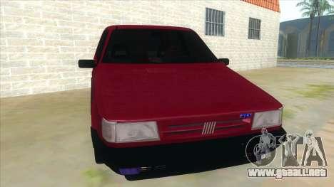 Fiat Uno S para GTA San Andreas vista hacia atrás
