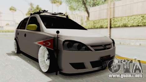 Opel Corsa para la visión correcta GTA San Andreas