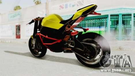 Kawasaki Ninja ZX-10R Nakedbike Stunter para la visión correcta GTA San Andreas