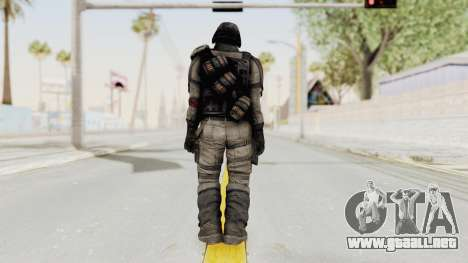 Helghan Assault Trooper without Pipes para GTA San Andreas tercera pantalla