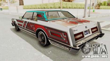 GTA 5 Dundreary Virgo Classic Custom v1 IVF para las ruedas de GTA San Andreas