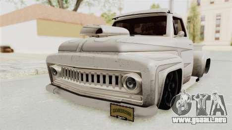 GTA 5 Slamvan Lowrider PJ1 para GTA San Andreas vista hacia atrás