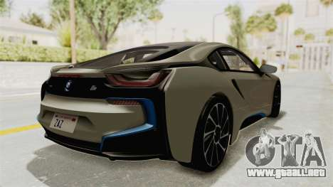 BMW i8-VS 2015 para GTA San Andreas vista posterior izquierda