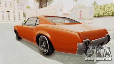 GTA 5 Declasse Sabre GT2 B para GTA San Andreas left