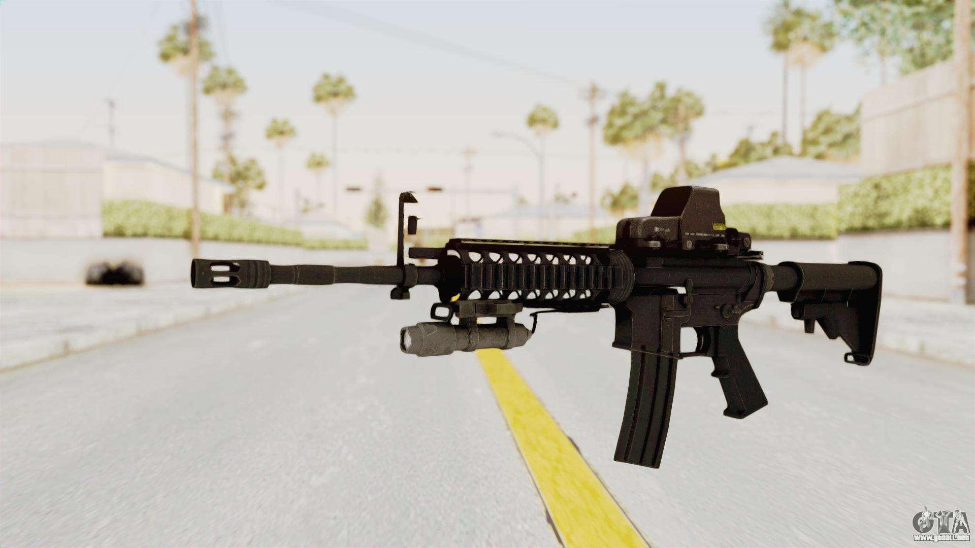 AR-15 with Eotech 552 and Flashlight para GTA San Andreas