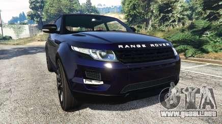 Range Rover Evoque v5.0 para GTA 5