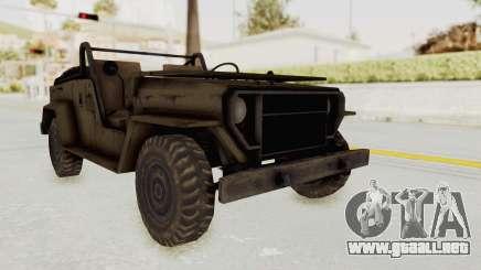 MGSV Jeep No LMG para GTA San Andreas