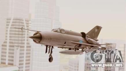 MIG-21 BIS de la Fuerza Aérea Argentina para GTA San Andreas