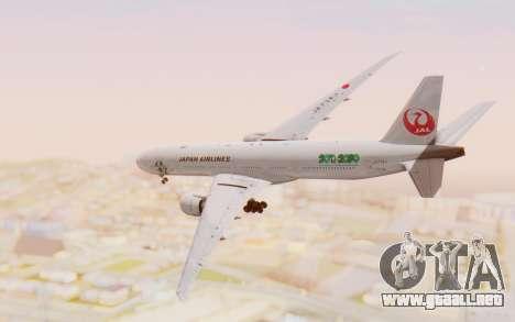 Boeing 777-300ER Japan Airlines v1 para la visión correcta GTA San Andreas