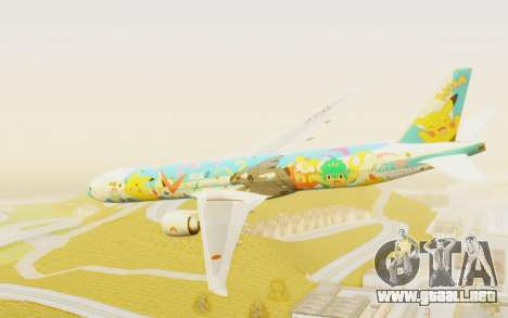 Boeing 777-300ER ANA JA754A - Peace Jet para GTA San Andreas left