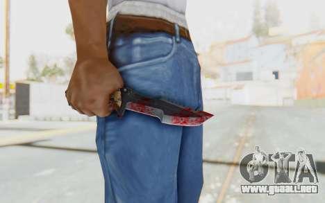 Huntsman Knife para GTA San Andreas tercera pantalla