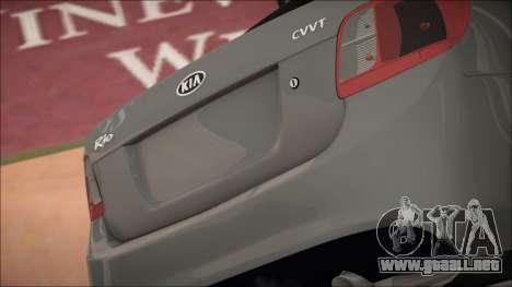 Kia Rio para visión interna GTA San Andreas