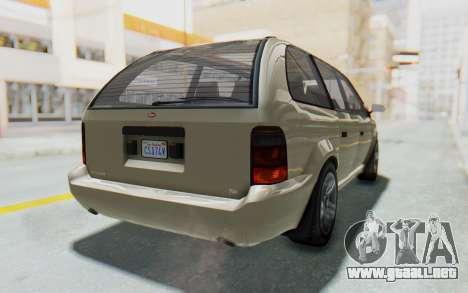 GTA 5 Vapid Minivan IVF para la visión correcta GTA San Andreas