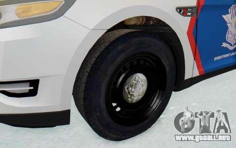 Ford Taurus Indonesian Traffic Police para GTA San Andreas vista hacia atrás