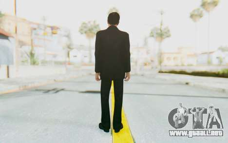 Mafia 2 - Vito Scaletta Madman Suit Black para GTA San Andreas tercera pantalla