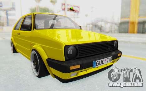 Volkswagen Golf Mk2 Lemon para la visión correcta GTA San Andreas