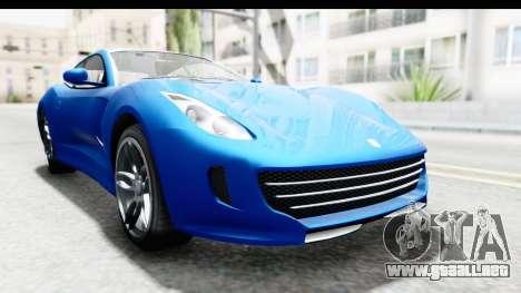 GTA 5 Grotti Bestia GTS para la visión correcta GTA San Andreas