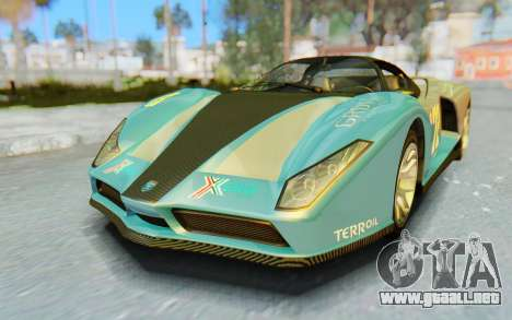 GTA 5 Grotti Cheetah SA Lights para GTA San Andreas interior