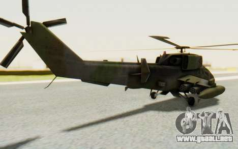WZ-19 Attack Helicopter para GTA San Andreas left