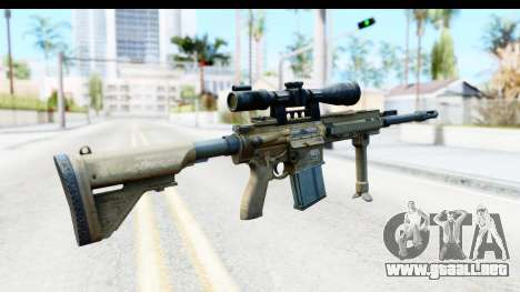CoD Ghosts - G-28 Desert Camo para GTA San Andreas segunda pantalla