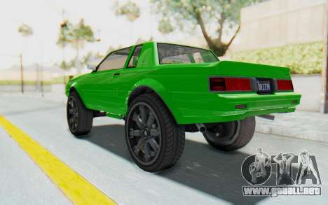 GTA 5 Willard Faction Custom Donk v3 para GTA San Andreas left