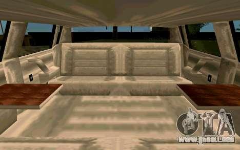 Tahoma Limousine v2.0 (HD) para visión interna GTA San Andreas