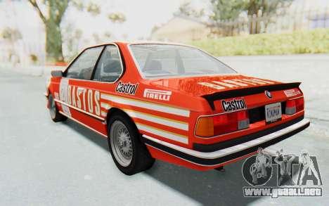 BMW M635 CSi (E24) 1984 IVF PJ3 para las ruedas de GTA San Andreas