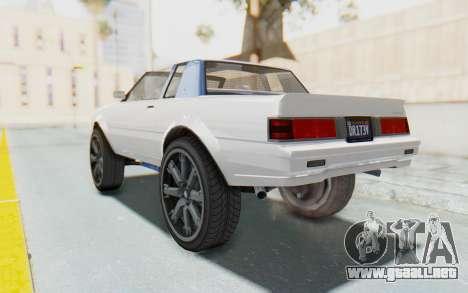 GTA 5 Willard Faction Custom Donk v2 para GTA San Andreas left