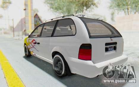 GTA 5 Vapid Minivan Custom para las ruedas de GTA San Andreas