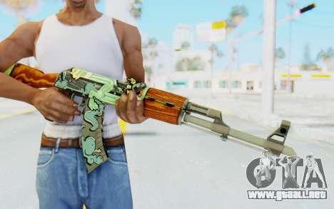 CS:GO - AK-47 Fire Serpent para GTA San Andreas tercera pantalla