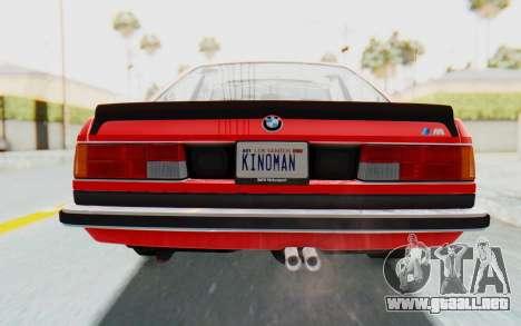 BMW M635 CSi (E24) 1984 IVF PJ2 para la vista superior GTA San Andreas