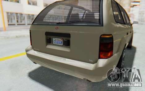 GTA 5 Vapid Minivan IVF para vista inferior GTA San Andreas