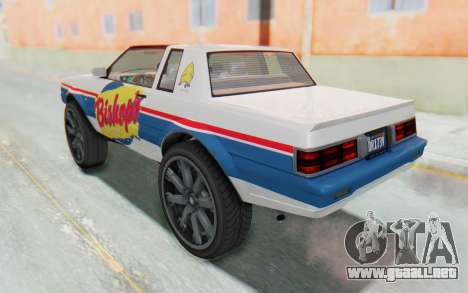 GTA 5 Willard Faction Custom Donk v3 para GTA San Andreas interior