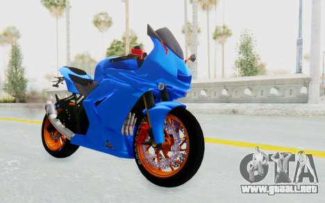 Kawasaki Ninja 250R Streetrace para la visión correcta GTA San Andreas