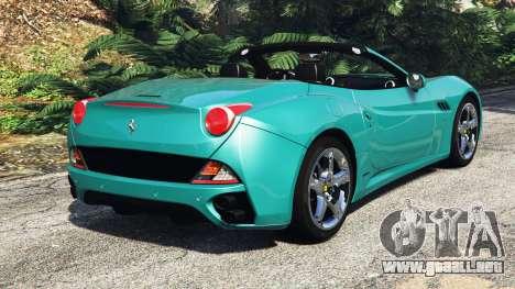 GTA 5 Ferrari California Autovista [add-on] vista lateral izquierda trasera