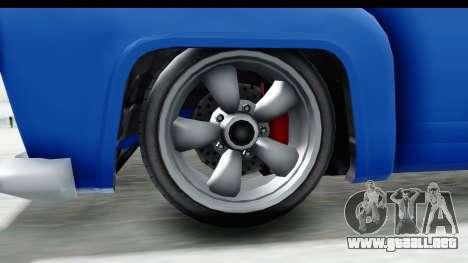 GTA 5 Vapid Slamvan without Hydro IVF para GTA San Andreas vista hacia atrás