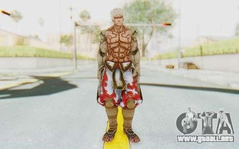 Asura Skin para GTA San Andreas segunda pantalla