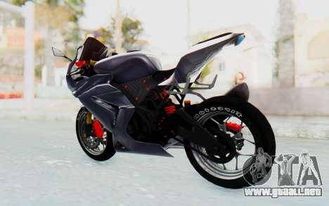 Kawasaki Ninja 250R Streetrace v2 para GTA San Andreas vista posterior izquierda