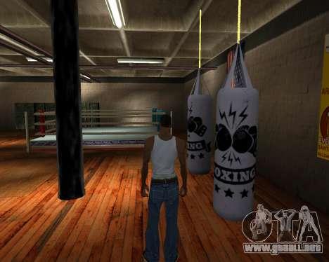 Pera De Boxeo para GTA San Andreas segunda pantalla
