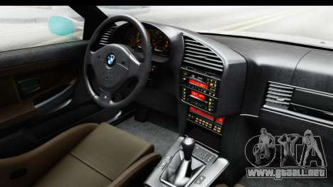 BMW M3 E36 Stance Lithuanian Police para visión interna GTA San Andreas