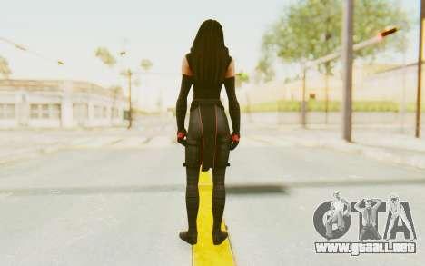 Marvel Heroes - Elektra para GTA San Andreas tercera pantalla