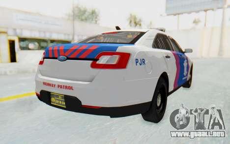 Ford Taurus Indonesian Traffic Police para GTA San Andreas left
