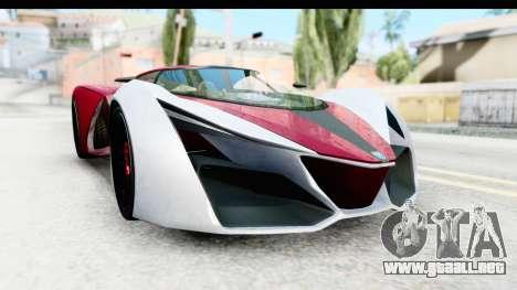 GTA 5 Grotti X80 Proto SA Lights para la visión correcta GTA San Andreas