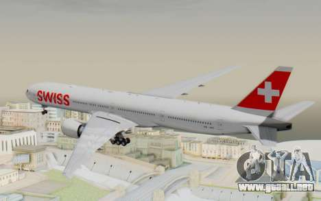Boeing 777-300ER Swiss Global Air Lines para la visión correcta GTA San Andreas
