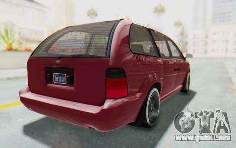 GTA 5 Vapid Minivan Custom without Hydro para GTA San Andreas left