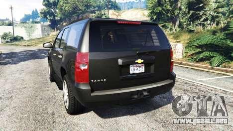 GTA 5 Chevrolet Tahoe vista lateral izquierda trasera